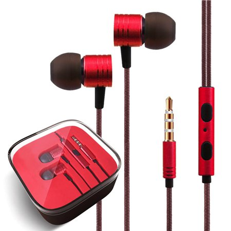 FREEDOMTECH Earphones in Ear Headphones Earbuds with Microphone and Volume Control for iPhone, iPod, iPad, Samsung Galaxy, Xaiomi and Android Smartphone Tablet Laptop, 3.5mm Audio Plug Devices