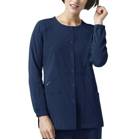 High Performance Raincoat - WonderWink High Performance 'Prism' Snap Front Jacket Scrub Top