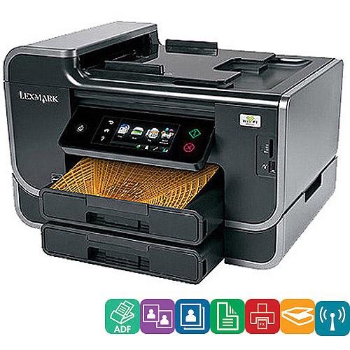 Lexmark Platinum Pro905 Wireless All-In-One (AIO) Inkjet Printer/Copier/Fax Machine/Scanner; w/Duplex & Network; Refurbished
