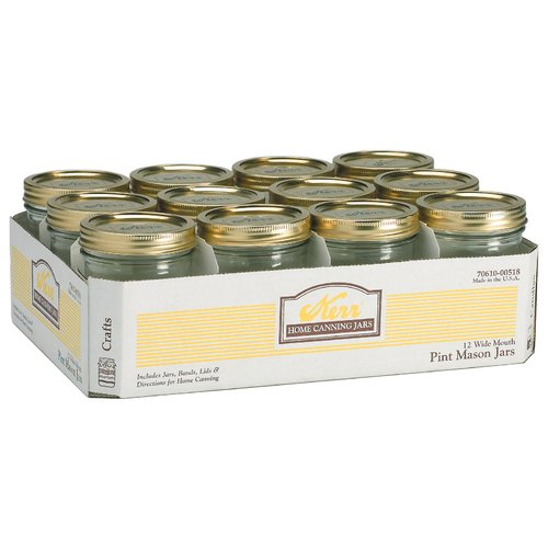 Alltrista Wide Mouth 12 Piece Canning jar Set (Set of 12) by