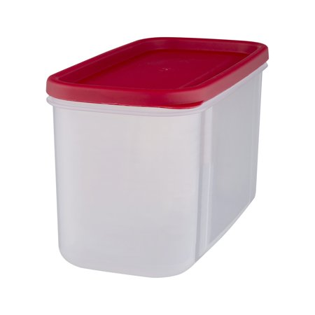 Rubbermaid Modular Plastic Canister Food Storage Container with Lid, 10 Cup/2.5 Liter