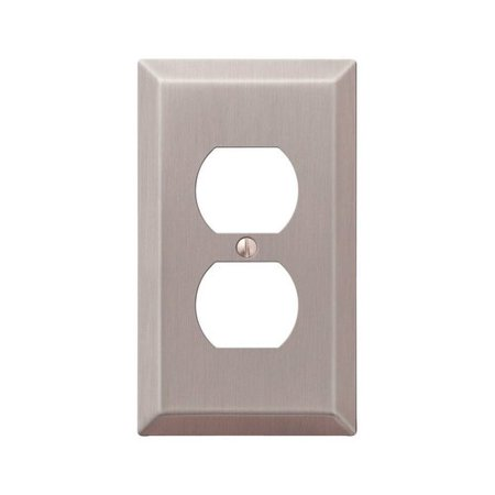 Amerelle Century 1 Gang Stamped Steel Duplex Outlet Wall Socket Plate