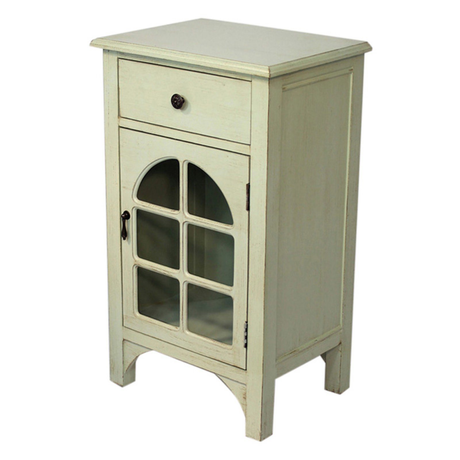 Heather Ann Creations Vivian Arched Glass Accent Cabinet