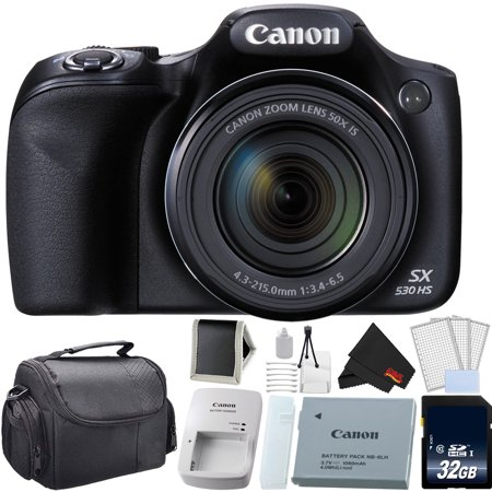 Canon PowerShot SX530 HS Digital Camera 50X Optical Zoom Bundle with 32GB Memory Card (Intl Model)