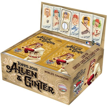 - 2018 Topps Allen & Ginter Baseball Cards Retail Display Box Plus Free Baseball Pack