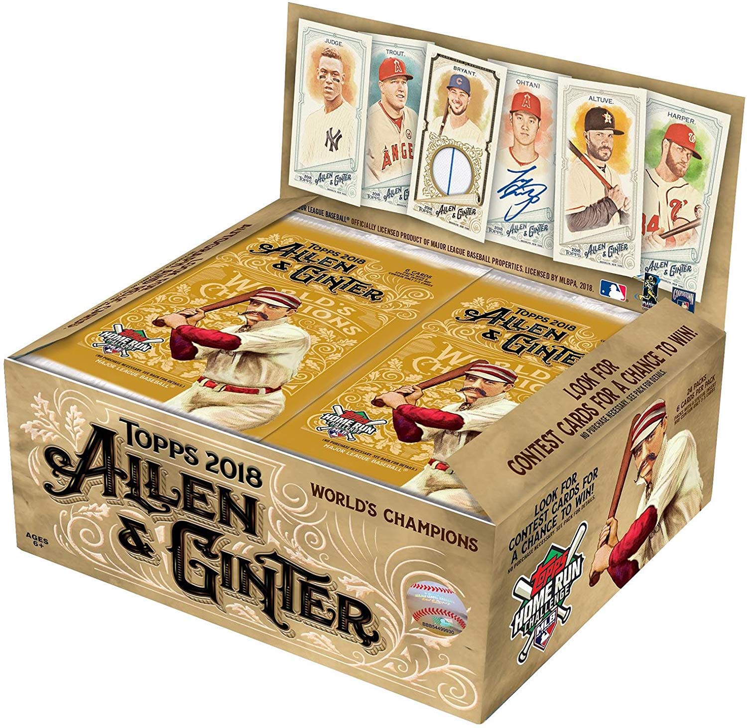 2018 Topps Allen & Ginter Baseball Cards Retail Display Box Plus Free Baseball Pack