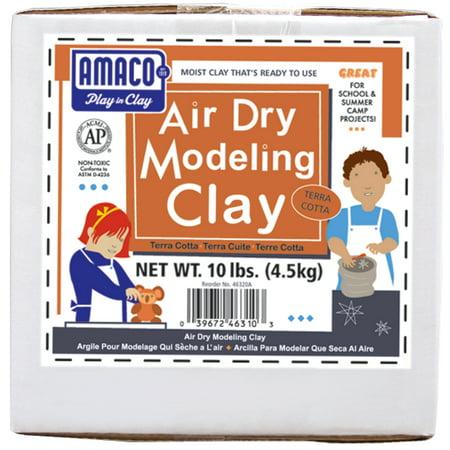 Amaco Air Dry Modeling Clay, 10 lbs., Terra-Cotta Amaco Air Dry Clay