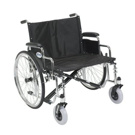 (Drive Medical Sentra EC Heavy Duty Extra Wide Wheelchair, Detachable Desk Arms)