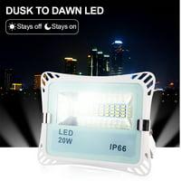 Waterproof IP66 LED Dusk to Dawn Light Bulb,10W/20W Smart Sensor Light Bulbs,Auto On/Off,Outdoor Light Yard Porch Garden,AC85-265V