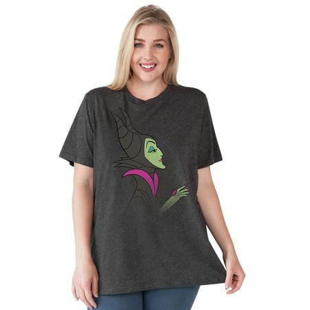 Women's Plus Size Maleficent T-Shirt Disney Villain