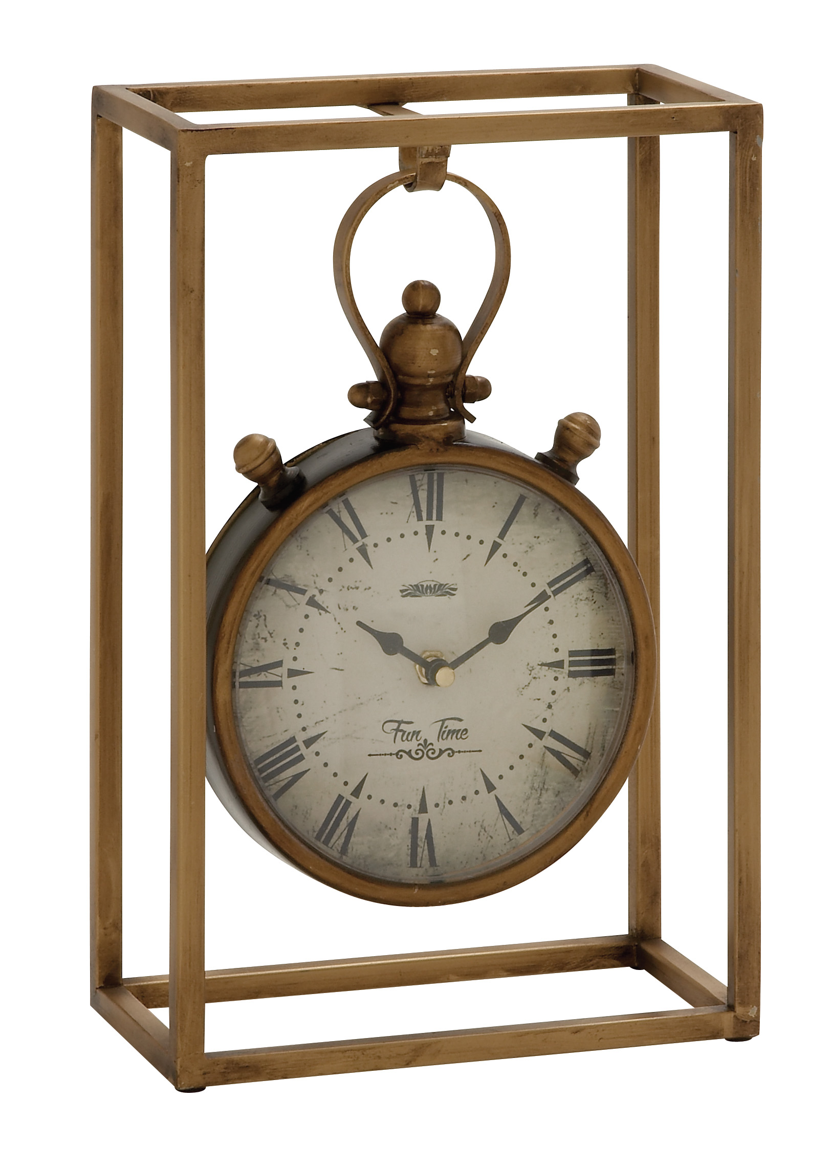 Fabulous And Unique Metal Table Clock by Benzara