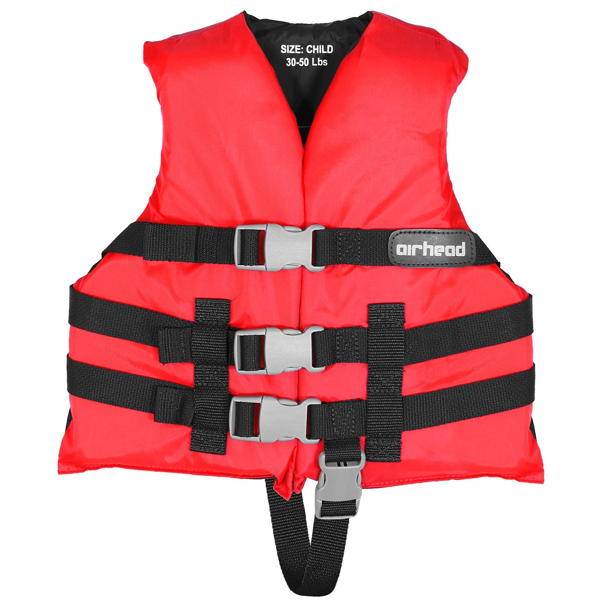 Airhead Open Sided Child Nylon Life Vest Red