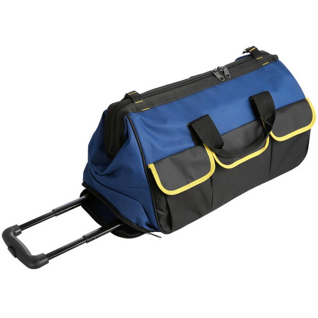 22'' Large Capacity Portable Heavy Duty Rolling Shoulder Tool Bag Organizer Anti Scratch... by