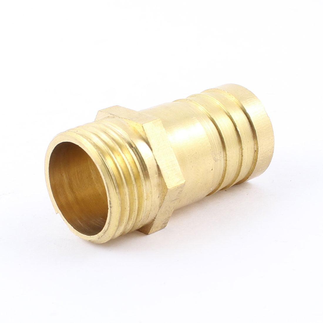 "Unique Bargains 20.2mm 1/2"" PT Male 19mm Hose Barb Nipple Brass Gas Quick Coupling Connector - image 1 of 1"