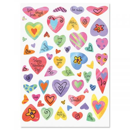 Colorful Heart Stickers - Set of 108 heart stickers](Heart Stickers)