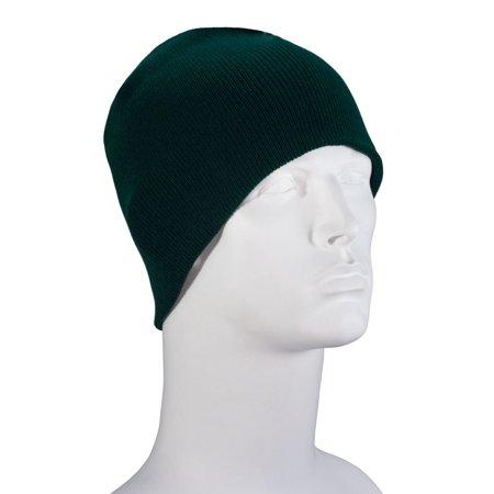 Solid Hunter Green Beanie Winter Hat - Single Piece - Walmart.com 3b7e205ab2b