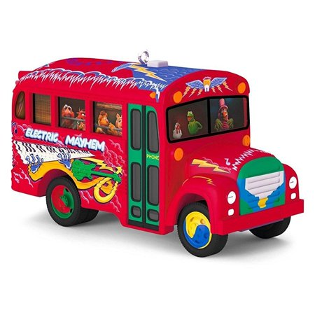 Hallmark 2016 Christmas Ornament The Muppets The Electric Mayhem Bus Musical ... - School Bus Ornaments