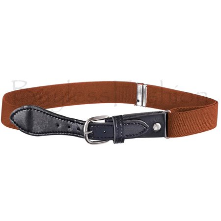 Buyless Fashion Kids Girls Elastic Adjustable Stretch Belt with Leather