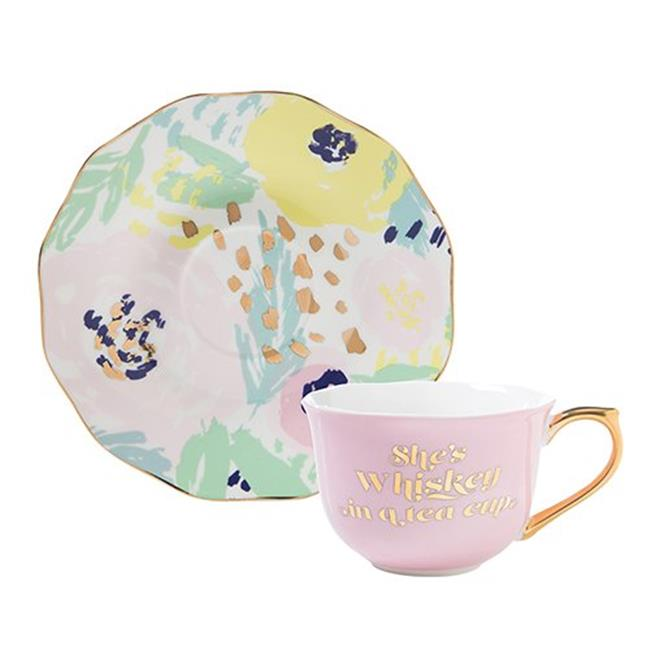 Pink and White Sweetheart Floral Design Porcelain Childrens 10 pc Tea Party Set