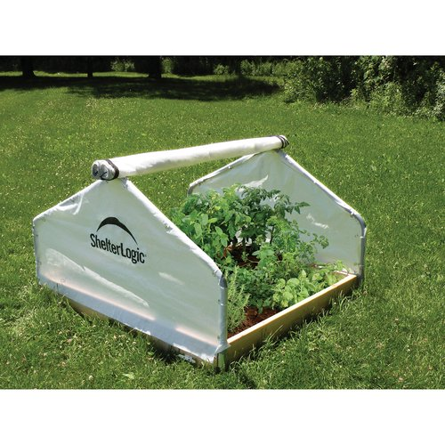 GrowIt Backyard Raised Bed Greenhouse, Peak Style