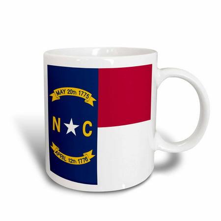 3dRose Flag of North Carolina NC - US American United State of America USA - Red white blue - great seal, Ceramic Mug, 15-ounce United Fc Mug
