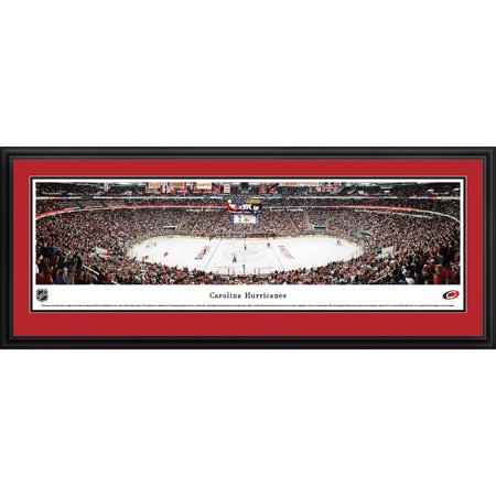 Carolina Hurricanes Center Ice at PNC Arena Blakeway Panoramas NHL Print with Deluxe Frame and Double Mat by