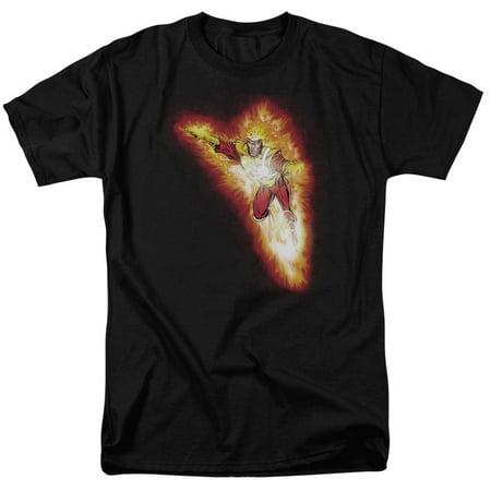 Justice League Firestorm Blaze Mens Short Sleeve Shirt - Halloween Boo-ze