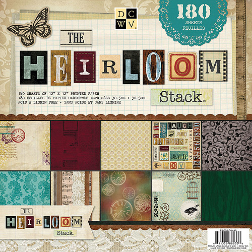 Diecuts With A View Heirloom Paper Stack, 180 Sheets