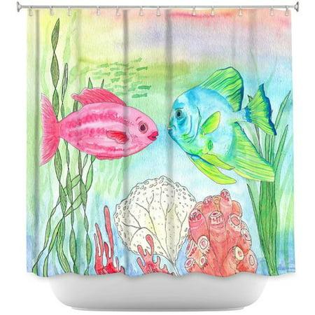 DiaNoche Designs Buck And Wanda Single Shower Curtain