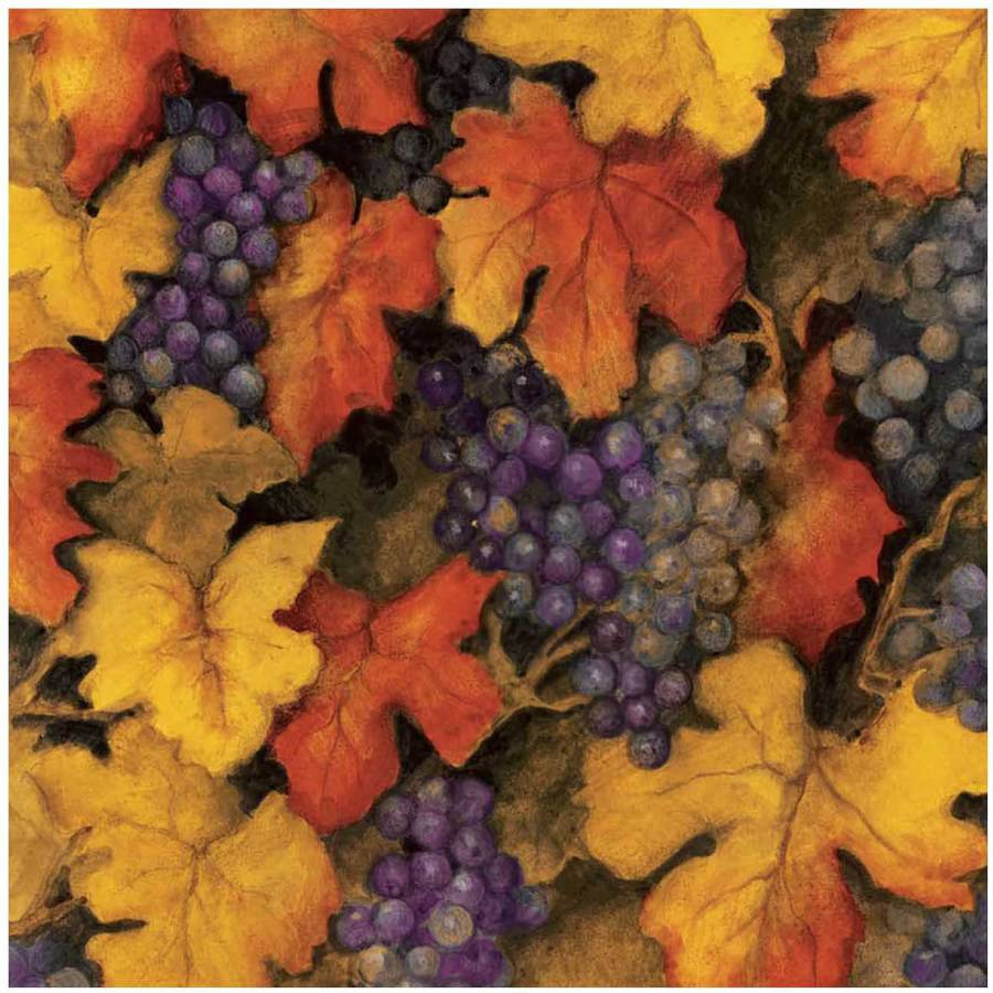 "Uncorked Grapes Multi-Colored 43/44"" Width Cotton Fabric by the Yard"