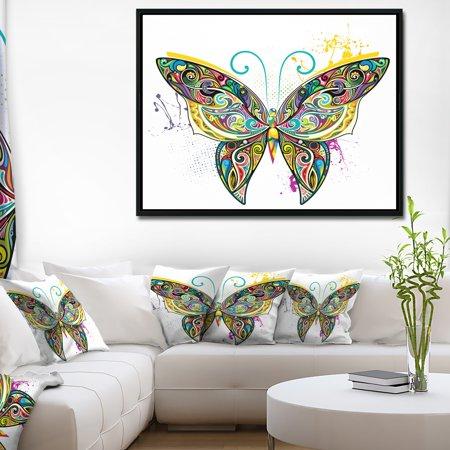 DESIGN ART Designart 'Openwork Butterfly' Abstract Print On Framed Canvas (Openwork Design)