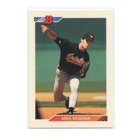 1992 Bowman #612 Mike Mussina Baltimore Orioles Rookie Card