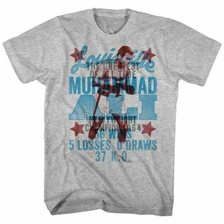 Muhammad Ali Icons Overlay Adult Short Sleeve T Shirt