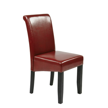 Parsons Chair, Crimson Red Leather (Red Parson Chair)