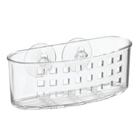 InterDesign Syncware Suction Sponge and Scrub Center, Clear