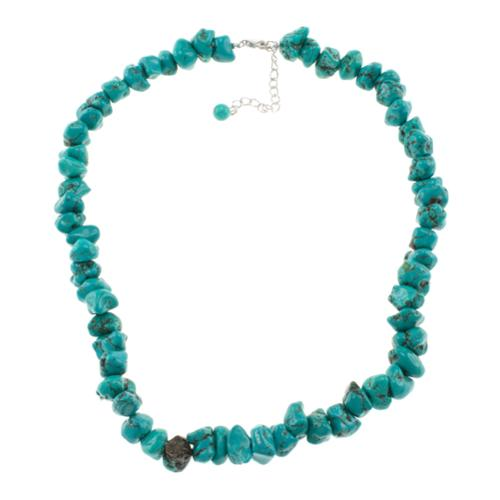 Pearlz Ocean  Turquoise Howlite Nugget Necklace