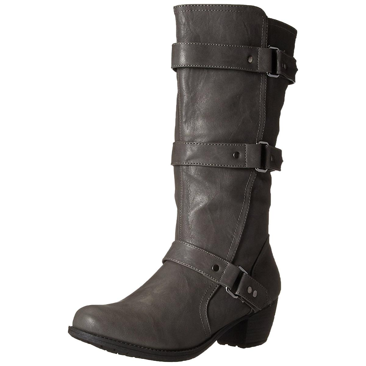 Easy Street Women's Barlow Grey Tall Harness Boots