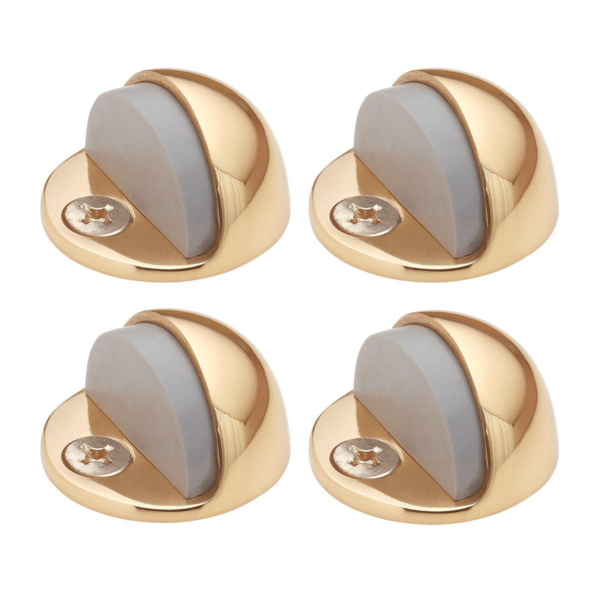 4 Brass Door Stop Dome Floor Mount Bumper | Renovator's Supply