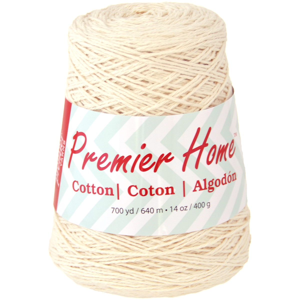 Premier Yarns Home Cotton Yarn - Solid Cone-Cream