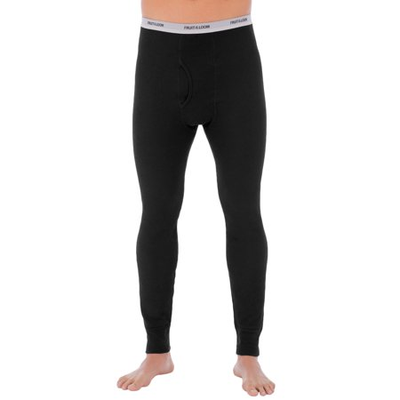 Fruit of The loom Men's Soft Waffle Waffle Baselayer Crew Pant Thermal underwear for Men
