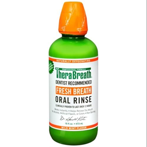TheraBreath Fresh Breath Oral Rinse 16 oz (Pack of 6)