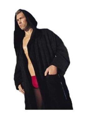 82dfff4835 Product Image Black XXXL 3XL Hooded Terry Bathrobe. Long Sleeves