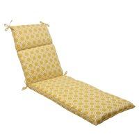 "72.5"" Yellow & White Octagonal Chain Outdoor Patio Furniture Lounge Cushion"