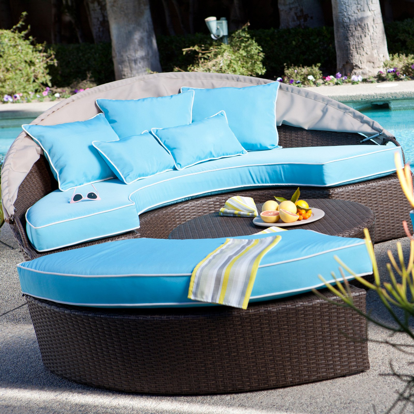 Belham Living Rendezvous All Weather Wicker Sectional Daybed   Walmart.com