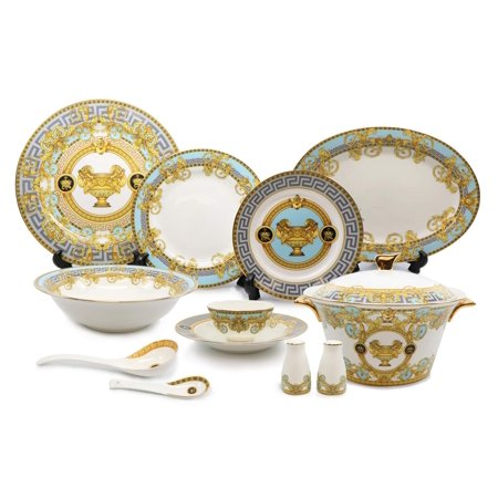 Royalty Porcelain 43-pc Dinner Set, Greek Vase, Bone China Porcelain - Antique Greek Vase