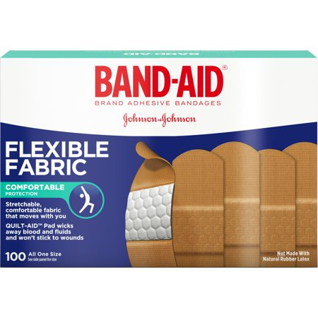 Band Aid J&J Flexible Fabric Adhesive Bandages, 1