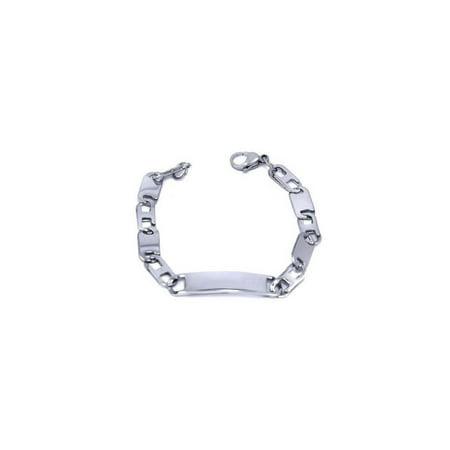 Engravable Kids Stainless Steel Link Id Bracelet Silver-Tone 5.9