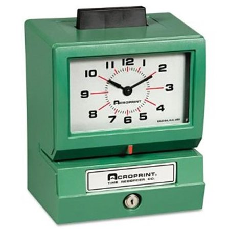Acroprint Time Recorder 011070413 Model 125 Analog Manual Print Time Clock with Month-Date-0-23 Hours-Minutes - Manual Print Time Recorder