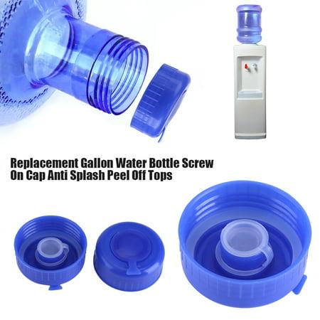 - 5Pcs Blue Gallon Drinking Water Bottle Screw on Cap Replacement Anti Splash Lids, Gallon Water Bottle Lid, Gallon Water Bottle Caps