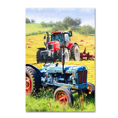 Trademark Fine Art 'Tractors' Canvas Art by The Macneil Studio (Tractor Canvas Art)